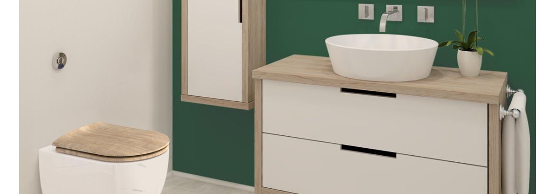 Nouveauté 2017, l'abattant Wood Slim se décline en couleurs et en décors.